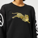 KENZO Women's Jumping Tiger Relax Sweatshirt - Black