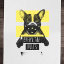 Balazs Solti Break The Rules Cotton Tea Towel