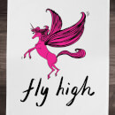 Rock On Ruby Fly High Cotton Tea Towel