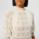 See By Chloé Women's High Neck Knit Top - Crystal White