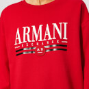 Armani Exchange Women's Logo Sweatshirt - Red