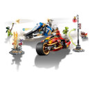 LEGO Ninjago: Kai's Blade Cycle and Zane's Snowmobile 70667