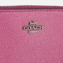 Coach Women's Metallic Small Zip Around Wallet - Metallic Berry