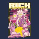 Rick and Morty 80s Poster Men's T-Shirt - Navy
