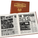 Aberdeen Football Newspaper Book - Brown Leatherette