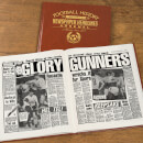 Arsenal Football Newspaper Book - Brown Leatherette