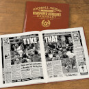 Barnsley Football Newspaper Book - Brown Leatherette