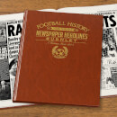 Burnley Football Newspaper Book - Brown Leatherette