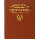 Huddersfield Football Newspaper Book - Brown Leatherette