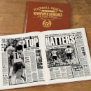 Luton Town Newspaper Book - Brown Leatherette