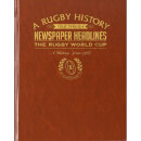 Rugby World Cup Newspaper Book - Brown Leatherette