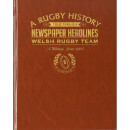 History of Welsh Rugby Newspaper Book - Brown Leatherette