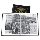 The Beatles Newspaper Book with Black Leather Cover