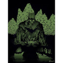 "DC Comics Batman ""Batcave"" 18"" x 24"" (Glow in the Dark) Lithograph Print by Chris Kawagiwa"