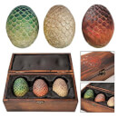 Artisan Designs Game of Thrones Dragon Egg Prop Replica Set in Wooden Box