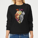 Tobias Fonseca Flower Heart Spring Women's Sweatshirt - Black