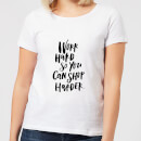 Work Harder So You Can Shop Harder Women's T-Shirt - White