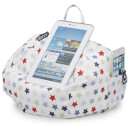 iBeani iPad, Tablet and eReader Bean Bag Stand - Blue and Red Stars