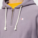 Champion Men's Half Zip Over Head Hoodie - Purple
