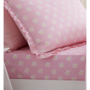 Catherine Lansfield Daisy Dreamer Cotton Rich Fitted Sheet - Pink