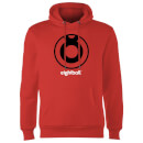 Ei8htball Large Black Logo Hoodie - Red