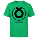 Ei8htball Large Black Logo Men's T-Shirt - Kelly Green