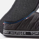 Tommy Hilfiger Men's Flag Patch Down Slippers - Black