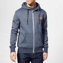 Superdry Men's Orange Label Zip Hoody - Abyss Navy Feeder Stripe