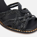 See By Chloé Women's Katie Braided Leather Block Heel Sandals - Black