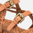 See By Chloé Women's Katie Braided Leather Flat Sandals - Sierra