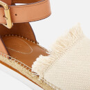 See By Chloé Women's Glyn Canvas Espadrille Flat Sandals - Natural