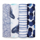 aden + anais Classic Swaddles 4-Pack Seafaring