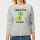 Be My Pretty Prosecco-Saurus Women's Sweatshirt - Grey