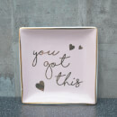 You Got This Design Trinket Dish - Pink and Rose Gold