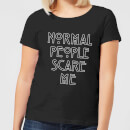 American Horror Story Normal People Scare Me Outline Women's T-Shirt - Black