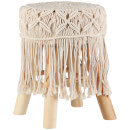 Stool Macrame - Cream
