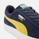 Puma Men's Suede Classic Trainers - Peacoat/Blazing Yellow