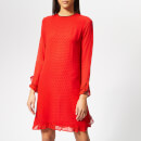 Ganni Women's Mullin Georgette Dress - Fiery Red