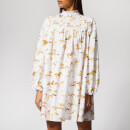 Ganni Women's Weston Print Dress - Bright White