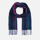 Paul Smith Men's Wool Stripe Scarf - Blue
