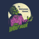 T-Shirt Homme The Wolfman Rétro - Universal Monsters - Bleu Marine