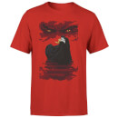 Universal Monsters Dracula Illustrated Men's T-Shirt - Red