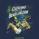 Universal Monsters Creature From The Black Lagoon Vintage Poster Men's T-Shirt - Navy