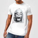 Universal Monsters Creature From The Black Lagoon Portrait Men's T-Shirt - White
