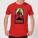 Universal Monsters Dracula Retro Men's T-Shirt - Red