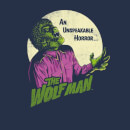 Universal Monsters The Wolfman Retro Women's T-Shirt - Navy