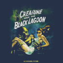Universal Monsters Creature From The Black Lagoon Vintage Poster Women's T-Shirt - Navy