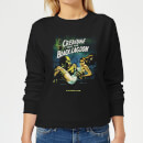 Universal Monsters Creature From The Black Lagoon Vintage Poster Women's Sweatshirt - Black