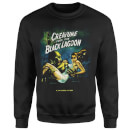 Universal Monsters Creature From The Black Lagoon Vintage Poster Sweatshirt - Black