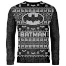Zavvi Exclusive Batman Knitted Christmas Jumper - Black
